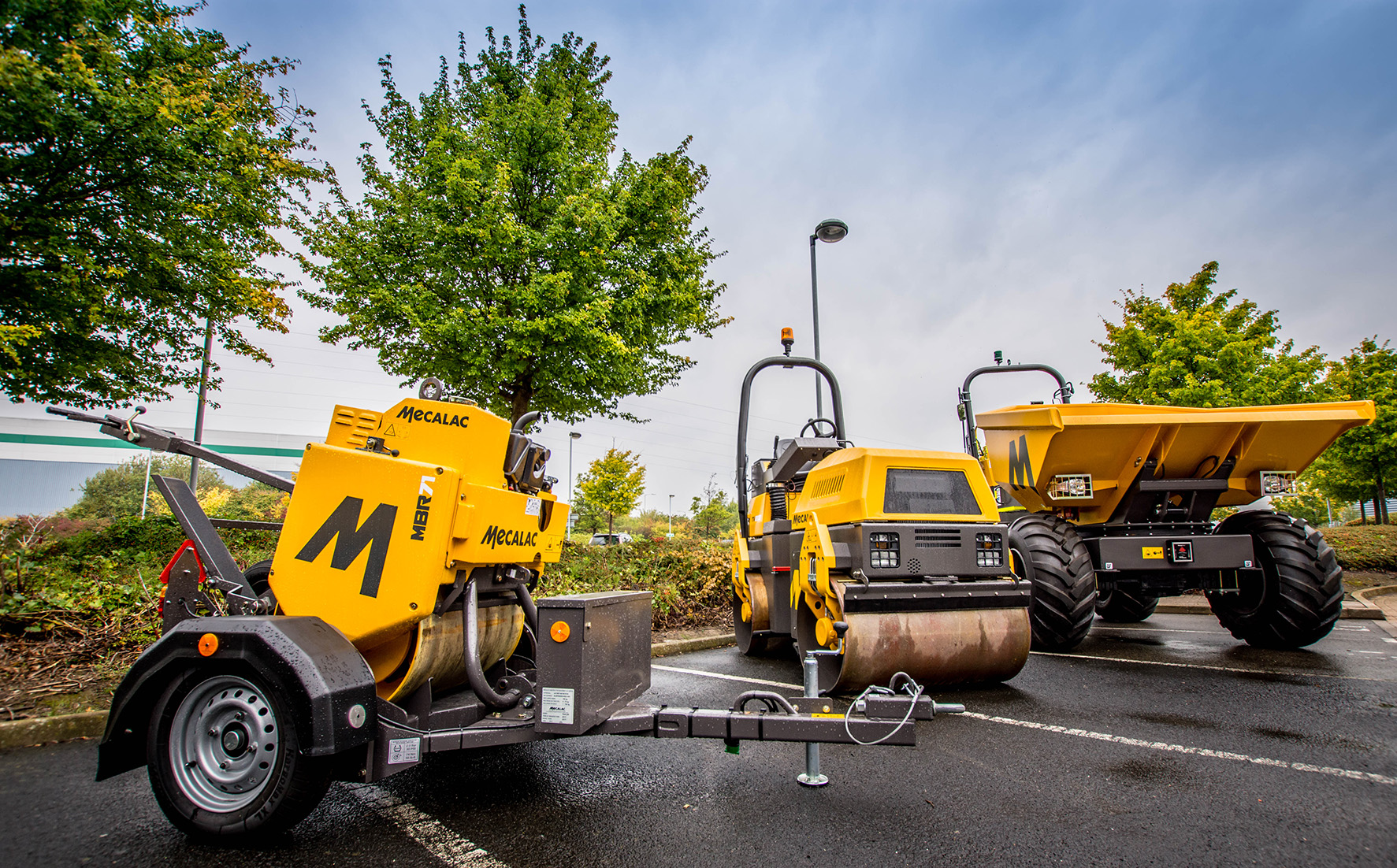 Mecalac dumper and compaction equipment